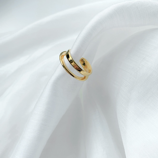 Open End Double Band Ring