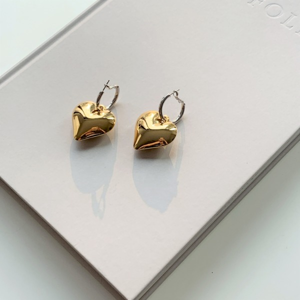 Heart Gold-Tone Earrings
