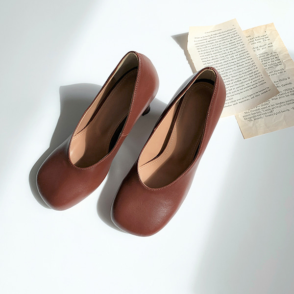 Rounded Square Toe Pumps