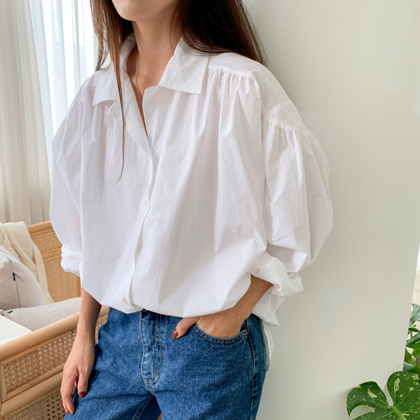 Ruched Seam Loose Blouse